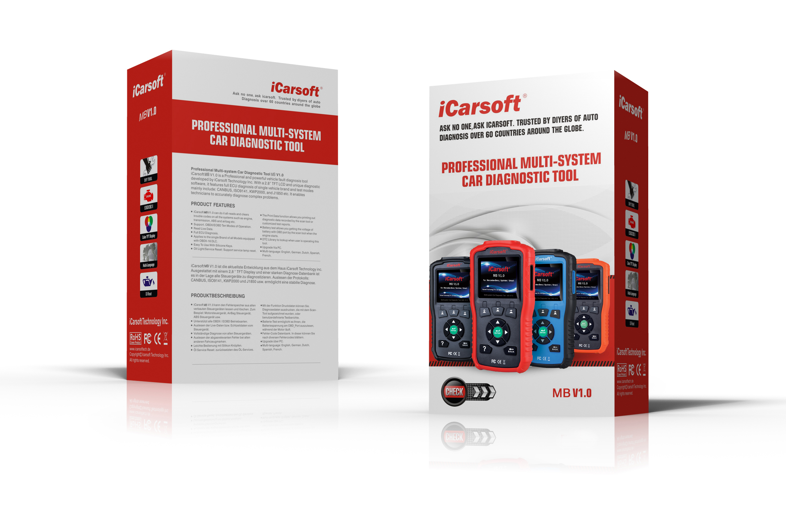 iCarsoft Auto Diagnostic Scanner VOL V1.0 for VOLVO//SAAB with Airbag Scan,Oil Service Reset ect